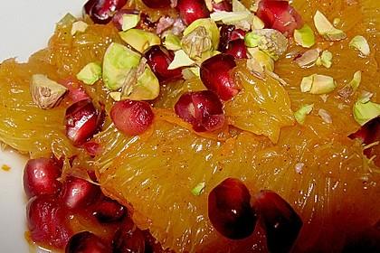 Marokkanischer Orangensalat mit Granatapfel 4