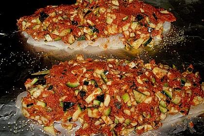 Fischfilet unter Zucchini - Kräuter - Kruste 16