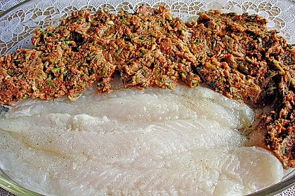 Fischfilet unter Zucchini - Kräuter - Kruste 17