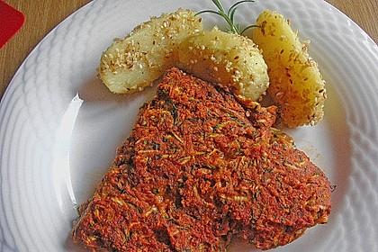 Fischfilet unter Zucchini - Kräuter - Kruste 4