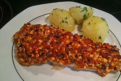 Fischfilet unter Zucchini - Kräuter - Kruste 6