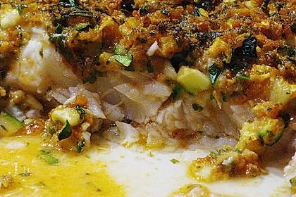 Fischfilet unter Zucchini - Kräuter - Kruste 15