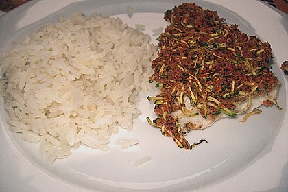 Fischfilet unter Zucchini - Kräuter - Kruste 10