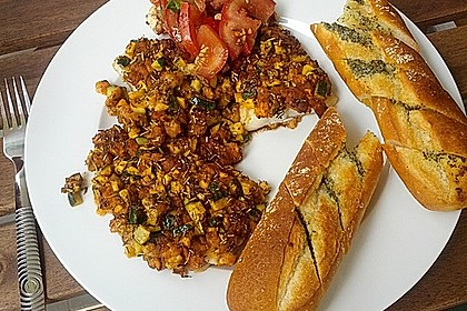 Fischfilet unter Zucchini - Kräuter - Kruste 3