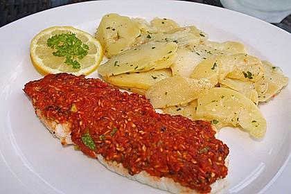 Fischfilet unter Zucchini - Kräuter - Kruste 2