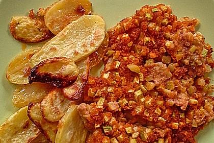 Fischfilet unter Zucchini - Kräuter - Kruste 9