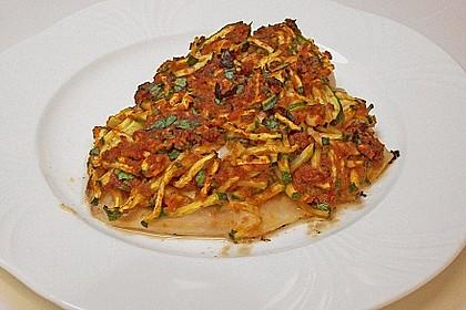 Fischfilet unter Zucchini - Kräuter - Kruste 13