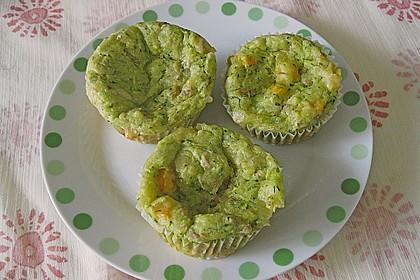 Muffins mit Thunfisch und Zucchini 2