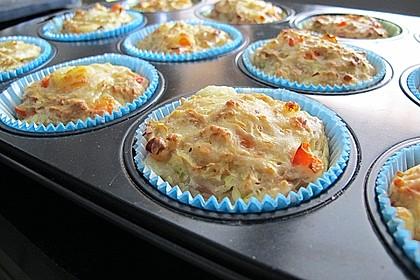 Muffins mit Thunfisch und Zucchini 1