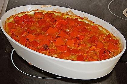 Fruchtig - pikantes Gemüsecurry mit Tomaten und Hokkaido - Kürbis 1