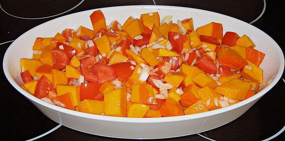 Fruchtig - pikantes Gemüsecurry mit Tomaten und Hokkaido - Kürbis ...