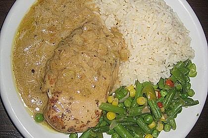 Hühnerfilet in Zwiebel - Balsamico - Sauce 4