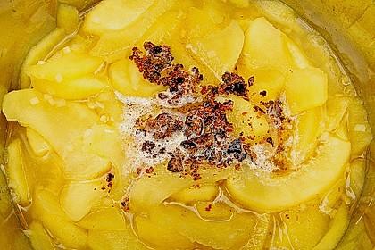 Lammfilets im Baconwickel mit Apfel - Wacholder - Püree 2