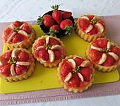Torteletts mit Mascarpone - Erdbeer - Belag (Bild)