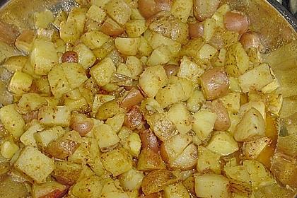 Würzige Kartoffeln auf indische Art