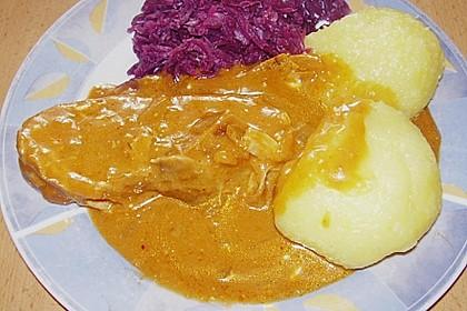 Schweinebraten in Senf - Sahne - Sauce 10