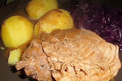 Schweinebraten in Senf - Sahne - Sauce 12