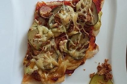 Hotdog - Pizza (Quark - Öl - Teig) (Bild)