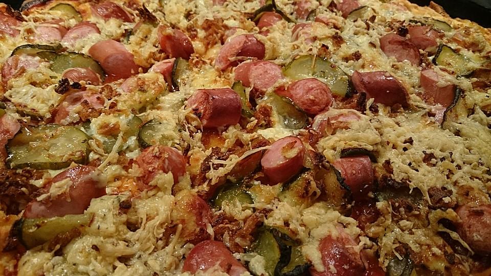 Hotdog Pizza Quark öl Teig Von Pandora78 Chefkoch