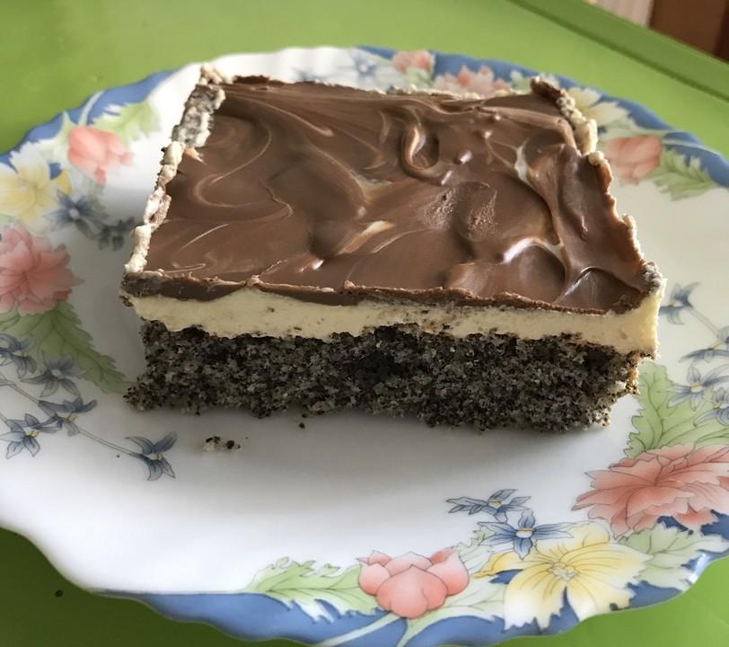 Mohnkuchen Mit Vanillecreme Und Schoko Von Annett Dm Chefkoch De