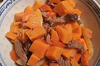 Kokosrindfleisch mit Süßkartoffeln 1