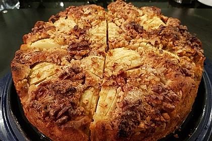 Apfelkuchen mit Walnusscreme 21