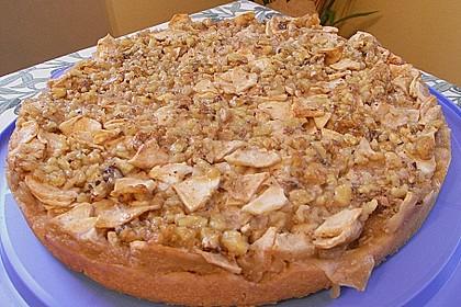 Apfelkuchen mit Walnusscreme 54