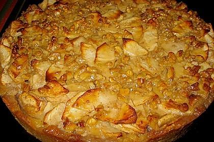 Apfelkuchen mit Walnusscreme 34