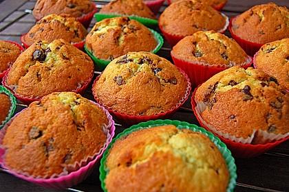 Muffins mit Schokosplittern 10