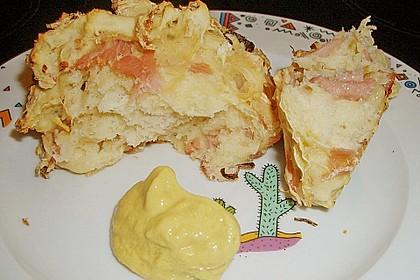Sauerkrautbrötchen mit Schinken 1