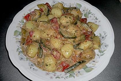 Gnocchi - Zucchini - Pfanne mit Schafskäse 35