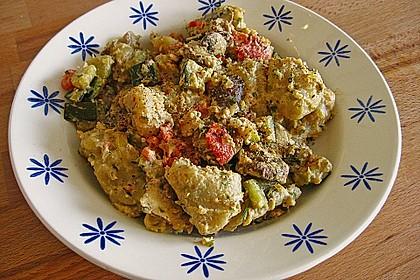 Gnocchi - Zucchini - Pfanne mit Schafskäse 75