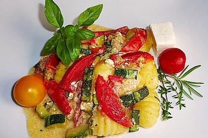 Gnocchi - Zucchini - Pfanne mit Schafskäse 2