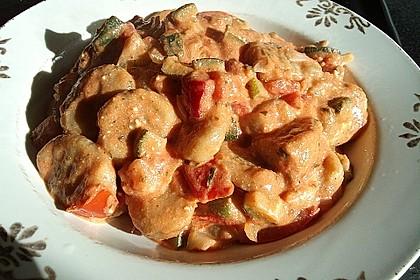 Gnocchi - Zucchini - Pfanne mit Schafskäse 29