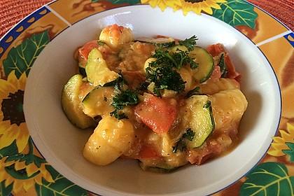 Gnocchi - Zucchini - Pfanne mit Schafskäse 5