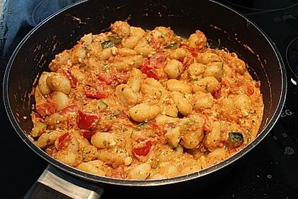 Gnocchi - Zucchini - Pfanne mit Schafskäse 21