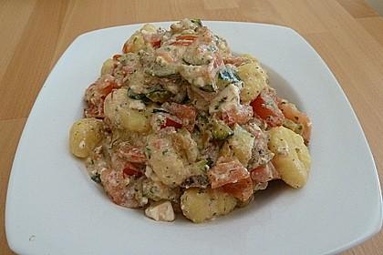 Gnocchi - Zucchini - Pfanne mit Schafskäse 14