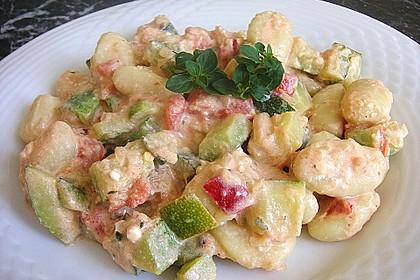 Gnocchi - Zucchini - Pfanne mit Schafskäse