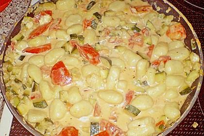 Gnocchi - Zucchini - Pfanne mit Schafskäse 56
