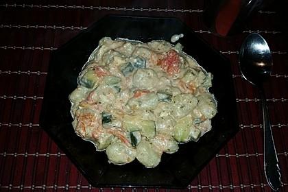 Gnocchi - Zucchini - Pfanne mit Schafskäse (Bild)