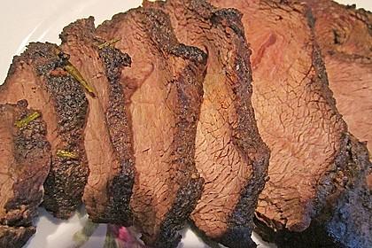 Rinderschulterfilet (falsches Filet) mariniert und NT geschmort 10