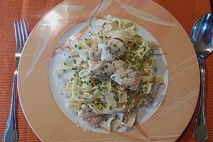 Tagliatelle mit Seelachs - Schnittlauch - Sauce 1