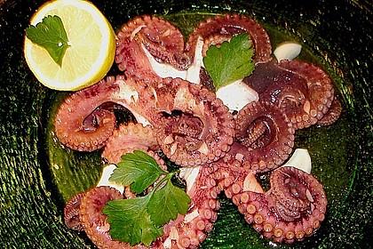 Oktopus in Olivenöl - Zitronen - Sauce 1