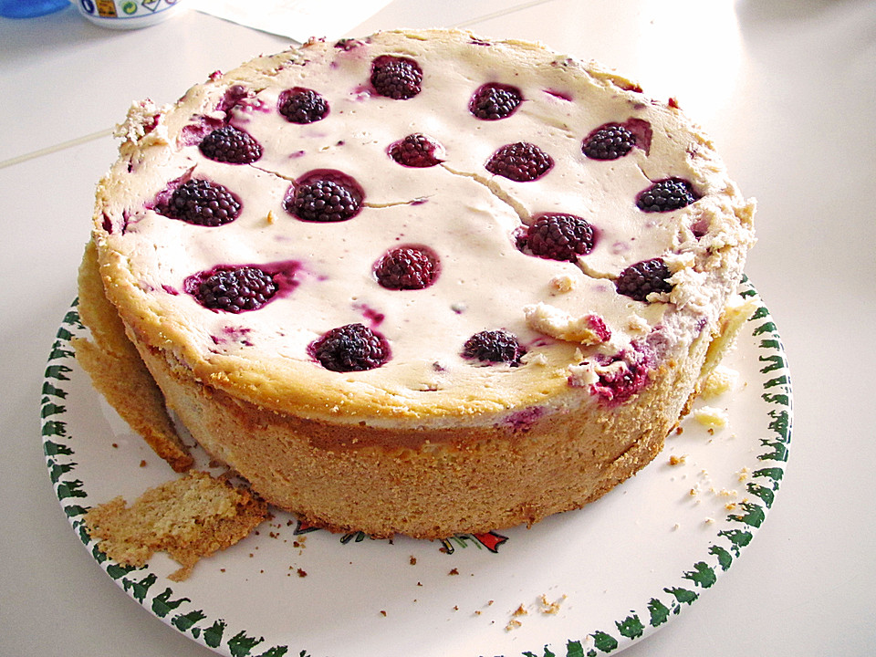 Leckerer Brombeer Kuchen