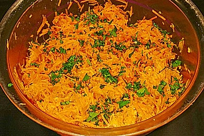 Karottensalat mit Ingwer - Vinaigrette (Bild)