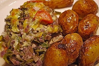 Römischer Mangoldfisch mit Rosmarinkartoffeln