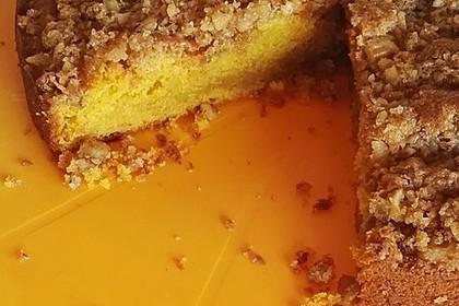 Kürbis Pie - Kuchen mit Walnuss - Streuseln (Bild)