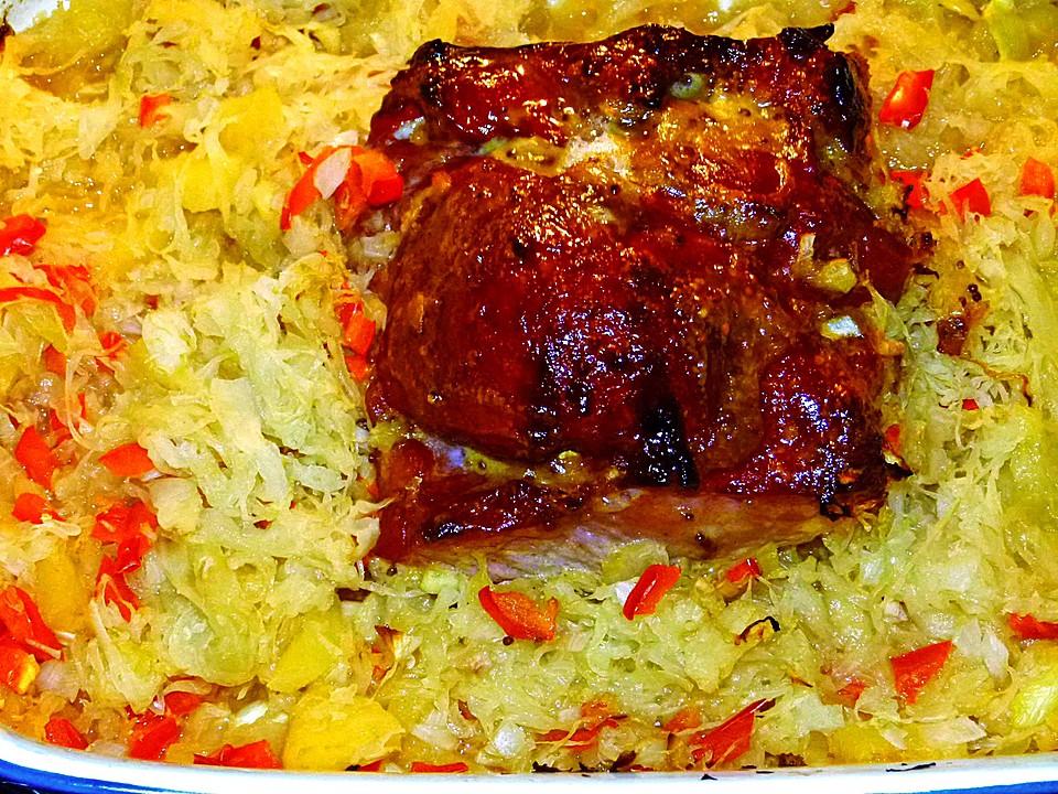 Kasseler Mit Ananas Sauerkraut Aus Dem Ofen Von Corela1 Chefkoch