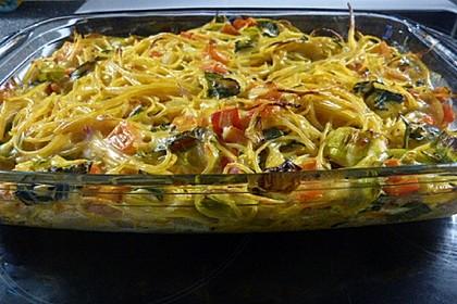 Spaghetti vom Blech (Bild)