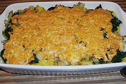 Kartoffel - Spinat - Auflauf 8
